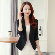 Casual Jacket Sleeve Double Breasted Work Suit Outerwear Blazer Feminino