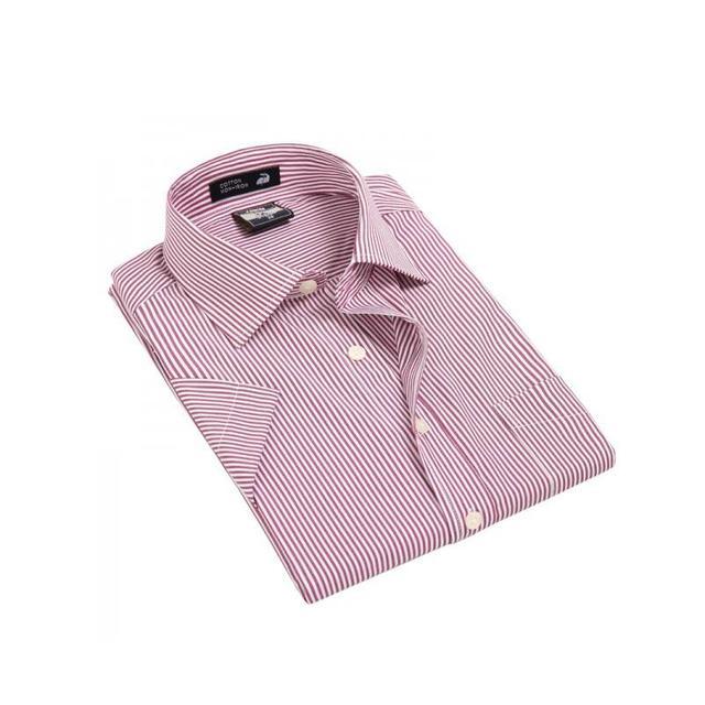 summer  Men   short  sleeve  Modal  striped  Dress  shirt mens   MD023  XS - XXXL