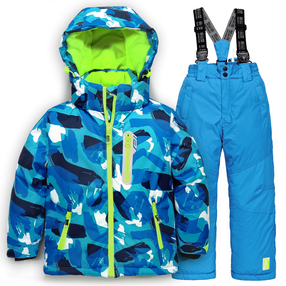 Winter Waterproof Cotton Filling Snow Suit Ski Snowboarding Jacket + Pants