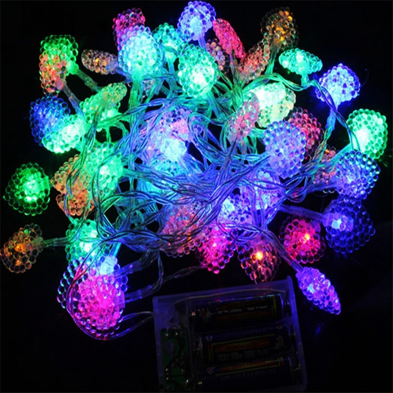 2m 20 Led String Lights Battery Ed Novelty Heart Decoration Christmas Party Wedding Fairy Lamp