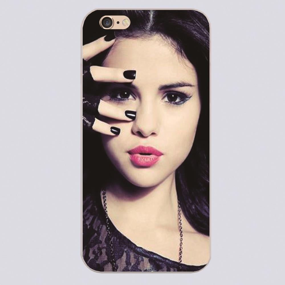 Selena gomez pink lips black nails lace Cover case for iphone 4 4s 5 5s 5c 6 6s plus samsung galaxy S3 S4 mini S5 S6 Note 2 3 4