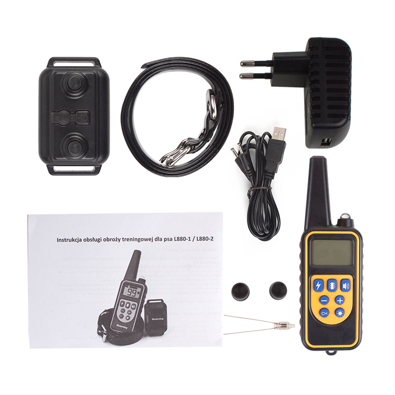 800m Waterproof and Rechargeable Electric Dog Training Collar with Remote Control and LCD for Shock 13
