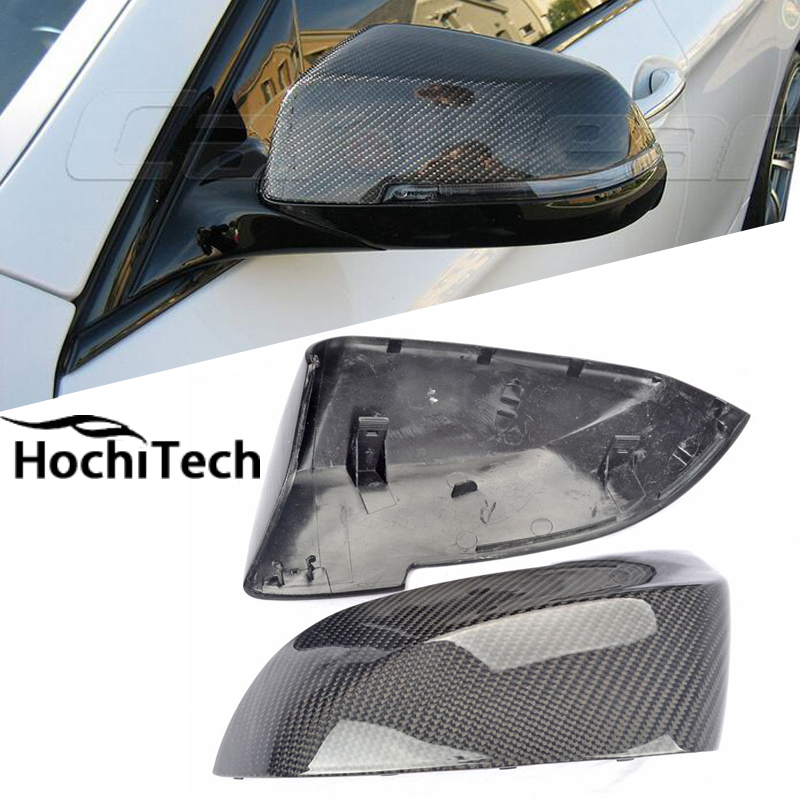 Top Quality 100% Real Replacment Type Carbon Fiber Side Mirror Covers for <font><b>BMW</b></font> F10 <font><b>F11</b></font> F18 2014 <font><b>2015</b></font> 2016 image