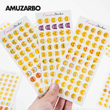 12 Sheets (660 Pcs) Pcs Emoji Stickers Novelty Smile Face Diary Stickers DIY Kawaii Scrapbooking Mini Stationery Sticker