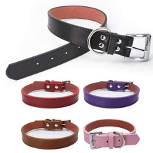 Fashion Smooth Fine Cowhide Dog Collar Thick Leather Dog Collar Puppy Cat Dog Neck Necklace Pet Supplies for Laser Engraving
