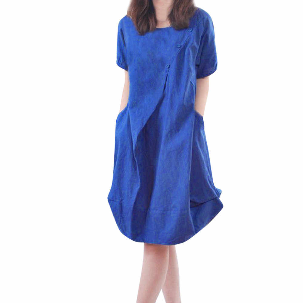 2900cd3910 Detail Feedback Questions about Women's Holiday Summer Dress Cotton ...