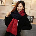 RASMEUP Women Winter Scarfs Long Length Knitted Wool Thicken Scarves for Women Quality Biocolor Infinity Cable Neck Shawl