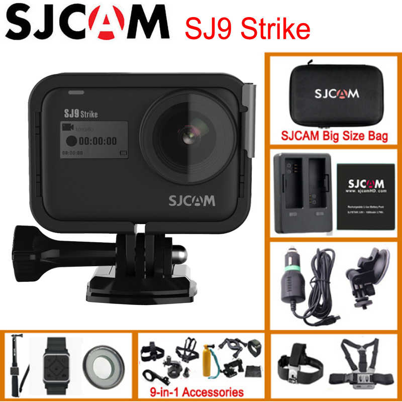 SJCAM SJ9 Strike Gyro/Eis Supersmooth 4K 60FPS Wifi Remote Action Camera Ambarella Chip Pengisian Nirkabel 10 M tubuh Tahan Air DV