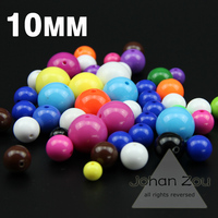 JHNBY Top quality 100PCs 10mm Acrylic Candy color beads Color balloon romance Colorful Chunky Beads jewelry Necklace Making DIY
