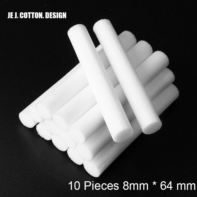 10 Piece 8mm*64mm Air Humidifiers Filters Cotton Swab for Car Home Ultrasonic Humidifier Mist Maker Aroma Diffuser Replace Parts