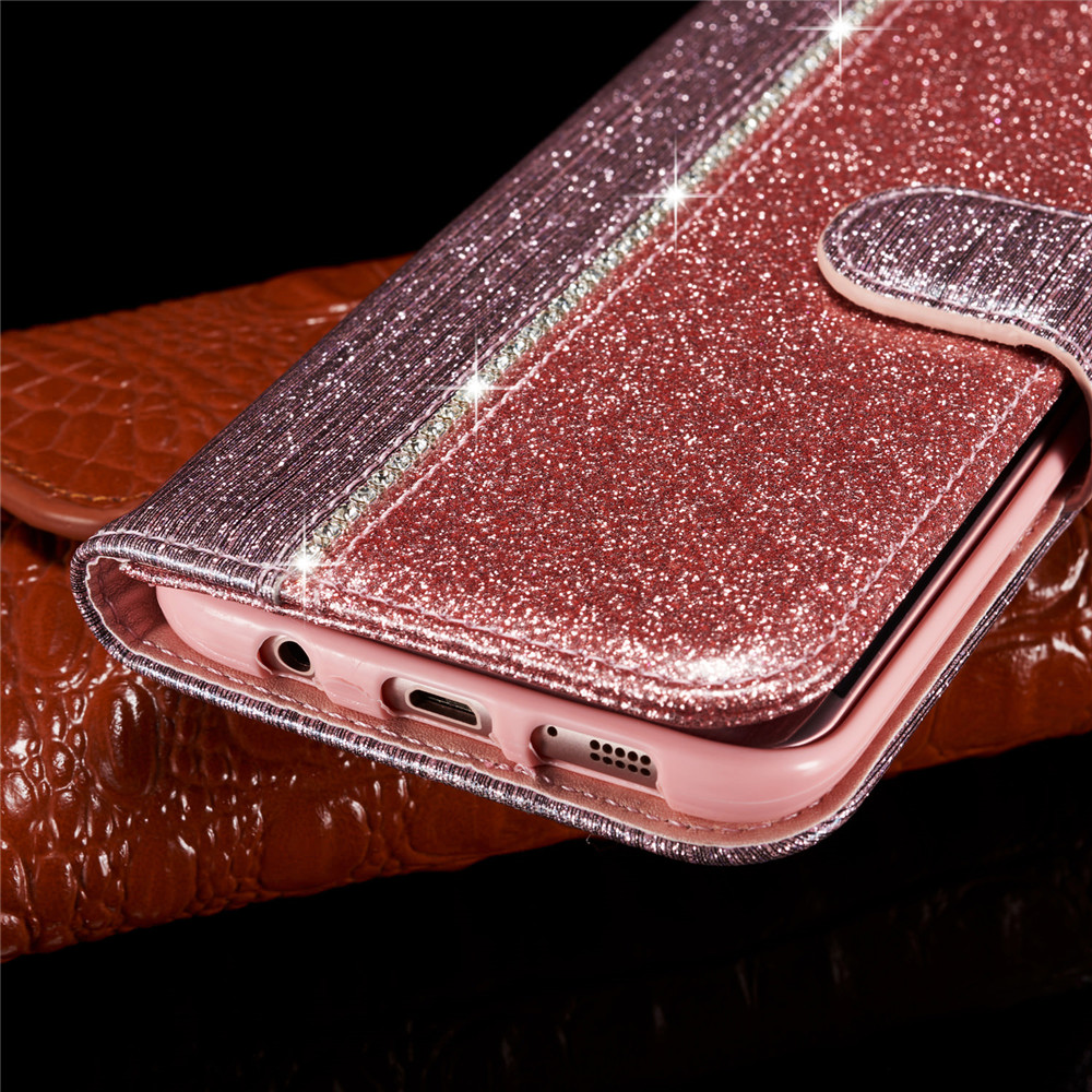 for Samsung galaxy s7 edge case Flash drill wallet leather Samsung galaxy s7 splice luxury stander card slot Samsung s7 pu case in Flip Cases from Cellphones Telecommunications