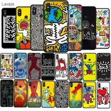 Lavaza Keith Haring art Soft TPU Case for Xiaomi Redmi Note 5 6 7 Pro for Redmi 5A 6A S2 5 Plus Silicone Cover lavaza mona lisa skull by samuxx soft tpu case for xiaomi redmi note 5 6 7 pro for redmi 5a 6a s2 5 plus silicone cover