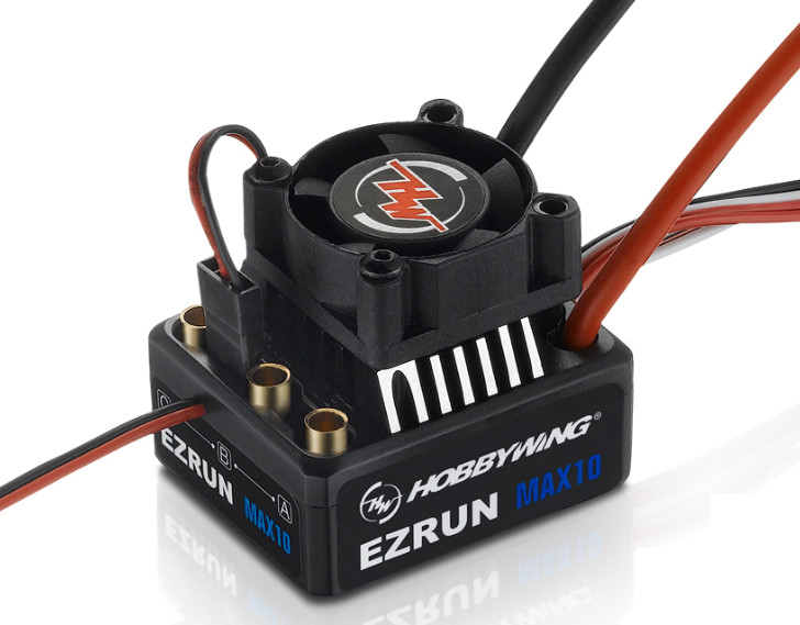 Hobbywing EZRUN MAX10 60A Waterproof ESC With 6V/7.4V BEC 2-3S Lipo Speed Controller Brushless ESC for 1/10 RC Car Truck F19275 new 7 2v 16v 320a high voltage esc brushed speed controller rc car truck buggy boat hot selling