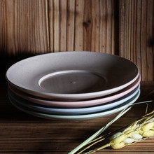 USEBER 4Pcs Plastic Dinner Plates Creative Eco-Friendly Material Sushi Dish Dinnerware Plate Serving Tray Dishes Set