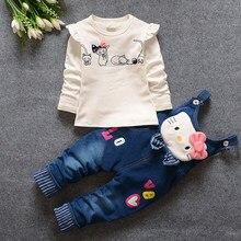 1768c0818 Caliente 2018 otoño niño mono bebé adolescente niñas establece manga larga  Tops + Pantalones Hello Kitty