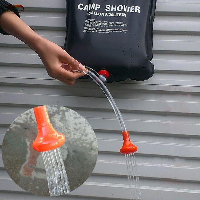 D'eau Sac EN Camp Solaire Énergie DE Chauffée Pliable Douche 20L PVC TwxqUXIA