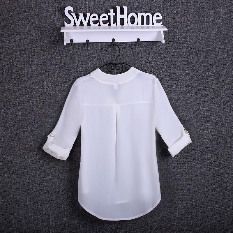 HTB1uJItKpXXXXXMXVXXq6xXFXXX6 - Chiffon Blouse Shirts Women's Long Sleeve V-Neck
