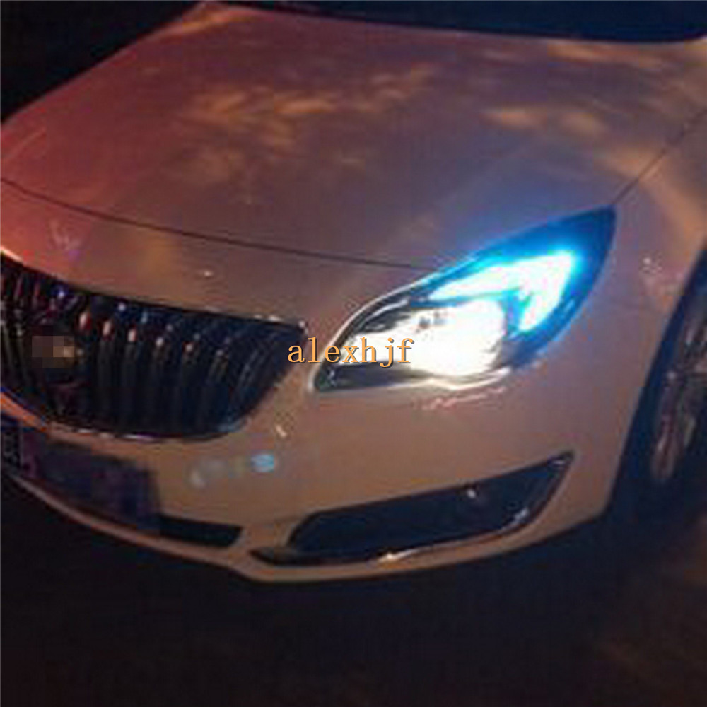 July King 2 Pairs 70LEDs 2835 1000LM Ice Blue T20 LED Clearance Lights DRL case for Buick New Regal Opel Insignia 2014~ON лонгслив printio ice king x batman
