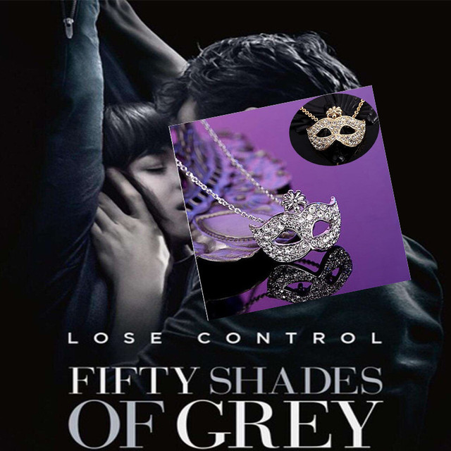 US $1 02 49% OFF| Fashion Jewelry Fox Mask Pendants Necklace 50 Fifty  Shades of Grey Cosplay Accessories Women Choker Necklace-in Chain Necklaces  from
