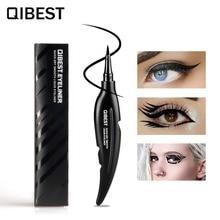 ФОТО qibest brand quick dry smooth liquid eyeliner pen pencil cool black eye liner long lasting makeup professional eye cosmetics