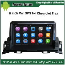 8 inch Android Car GPS Navigation for Chevrolet Trax Car Video Player WiFi Bluetooth Mirror link