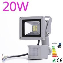 Waterproof High Power 20w 900LM Cool/Warm White SMD Led Lamp Floodlight Led Sensor Flood Light Garden Outdoor Lighting 85V-265V