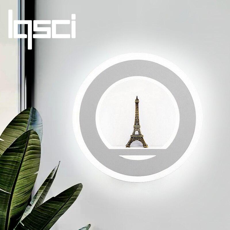 LQSCI 17 watt 86-265 v AC110V 220 v LED Wand Lampen Moderne Einfache Schlafzimmer Nacht Indoor Wand Beleuchtung