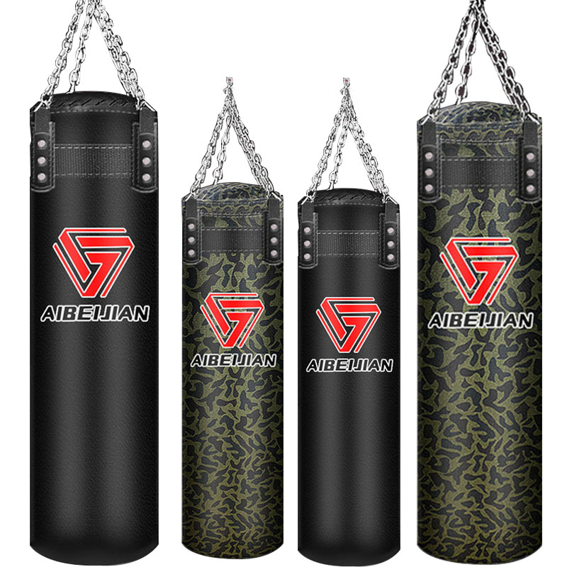 70/100/120cm Sandbag Thickened Canvas Punching Bag PU Leather Sport Training Empty Boxing Bags Self-filled Boxing Sandbag,HB082
