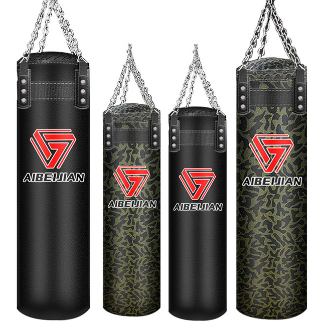 70/100/120cm Sandbag Thickened Canvas Punching Bag PU Leather Sport Training Empty Boxing Bags Self-filled Boxing Sandbag,HB082