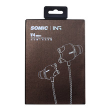 Somic V4 Stereo In-Ear Earphones Double Moving-coil Ear Buds Wired Dynamic Headsets for Mobile Phone iphone xiaomi Sport Earpods(China)