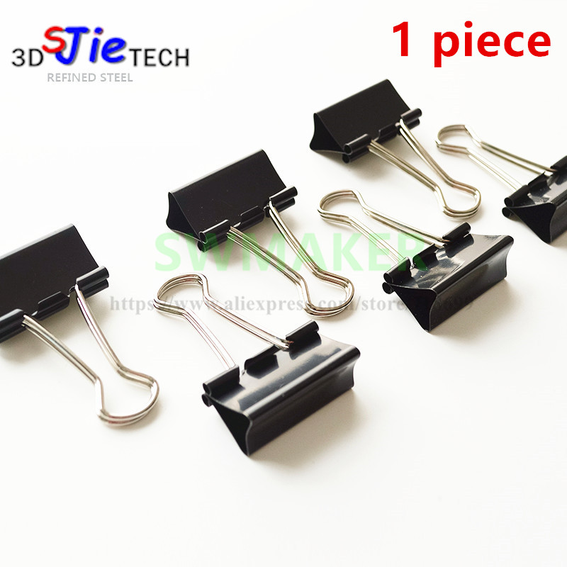 15mm/19mm/25mm/32mm/41mm/50mm  Foldback Bulldog Glass Bed Clip For DIY Reprap 3D Printer