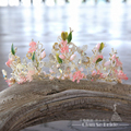 New Speical Women Crown novel silver color Tiara pearl jewelry crystal beads corona hairband bridal wedding accessories xy0032