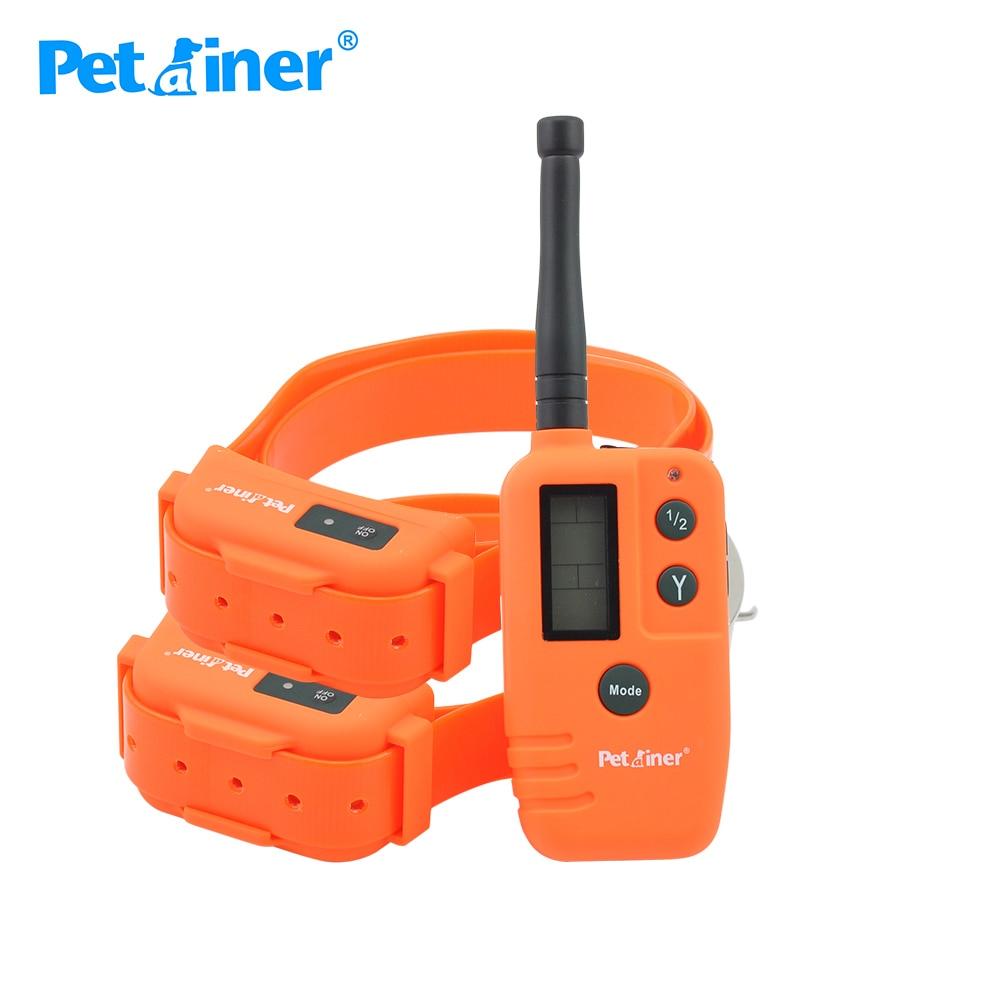 Ev ve Bahçe'ten Eğitim yaka'de Petrainer 910T 2 köpek tasması elektrikli 500M aralığı su geçirmez ve Pet köpek ürünü köpek beeper avcılık için 2 köpekler için'da  Grup 1