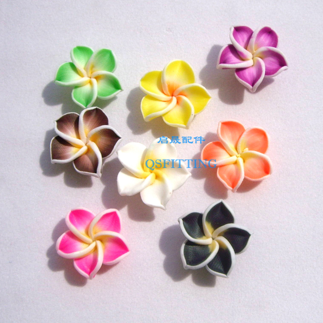 20 pcs jóias acessórios Fatia Fimo polymer clay Flores color mix Lily flor de cinco pétalas Colar Brinco Fazendo Deparment
