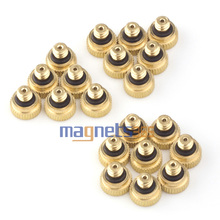 20pcs Brass Misting Nozzles for Cooling System 0.012 (0.3 mm) 10/24 UNC Garden Free Shipping