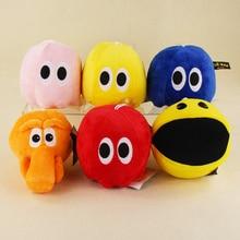 6 Styles Kawaii Pixels Plush Toys Doll Q Bert Pacman Ghost Moive Soft Stuffed Animal Doll
