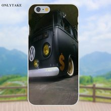 Vvcqod TPU Phone Case Cover For Apple iPhone X 4 4S 5 5C SE 6 6S 7 8 Plus Galaxy Grand Core II Prime Alpha Black Car Vw