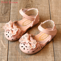 Petit Dream 2018 New Spring and Summer Baby Girls First Walker Shoes Princess Pink White Soft Soles PU Leather Baby Girls Shoes