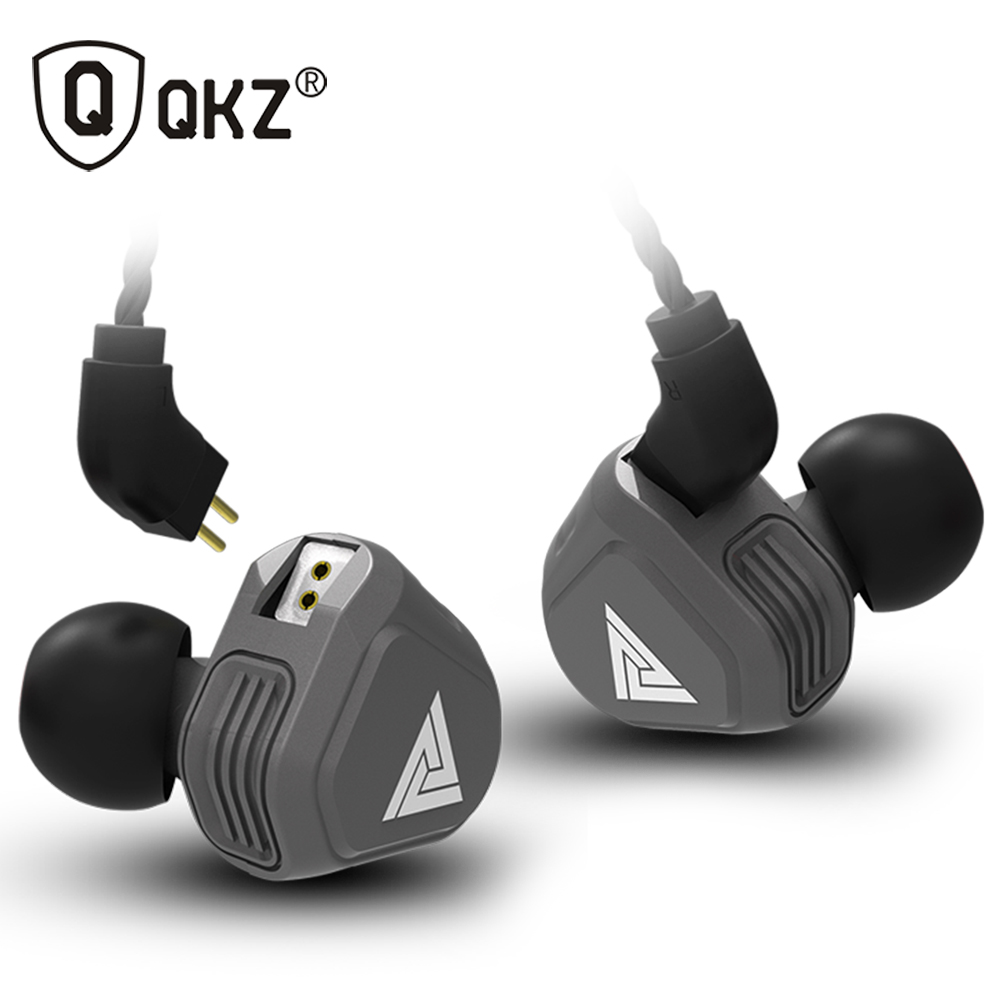 New QKZ VK2 2DD In Ear Earphone HIFI DJ Monito Running Sport Earphone Hybrid Headset Bass Earbuds With Mic Replaced Cable new kz es3 ba dd in ear earphone hybrid headset hifi bass noise cancelling earbuds with mic replaced cable