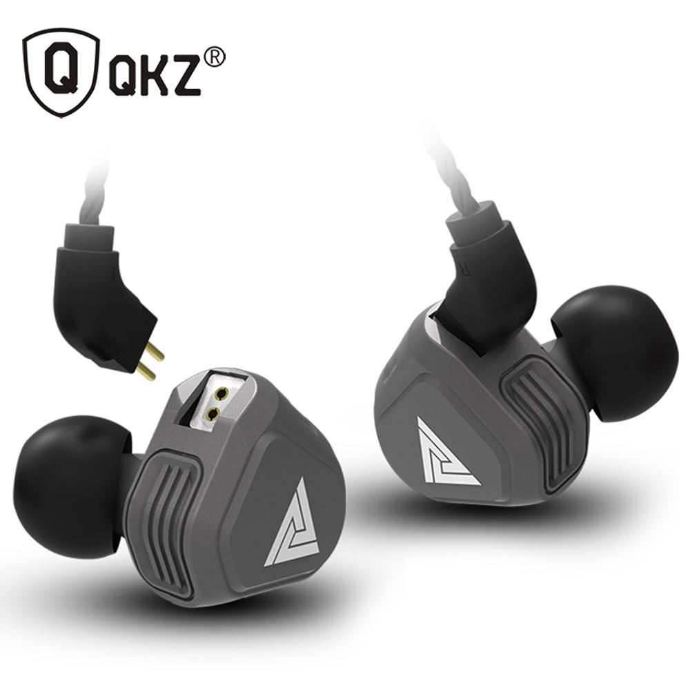 Nuovo QKZ VK2 2DD In Trasduttore Auricolare Dell'orecchio HIFI DJ Monito Corsa e Jogging Sport Auricolare Hybrid Auricolari Auricolare Bassi Con Il Mic Sostituito cavo