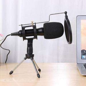 Image 3 - Alloyseed Usb Microfoon Condensator Bedrade Handheld Microfoon Condensor Met Vouwen Stand Voorruit Voor Pc Chatten 170*32*32mm