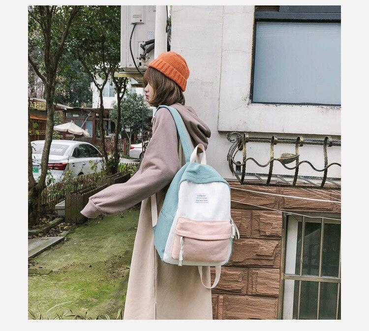 HTB1uJKJaAL0gK0jSZFAq6AA9pXaf 2019 New Fashion Women Backpack Leisure Shoulder School Bag For Teenage Girl Bagpack Rucksack Knapsack Backpack For Women