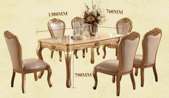 Sala da pranzo In Marmo Tavolo Da Pranzo di Lusso Set Stile Europeo ...