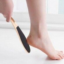 1 шт. двухсторонняя деревянная ручка овальной формы пилка для ног инструмент для чистки пилка для ног твердая мертвая кожа для удаления