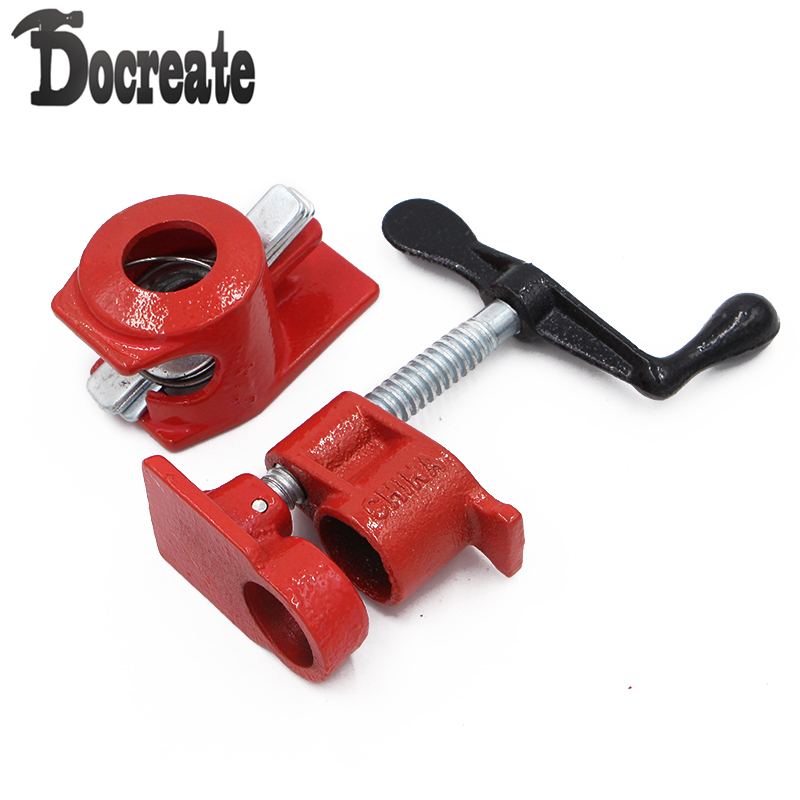 1/2inch Wood Gluing Pipe Clamp Set Heavy Duty Profesional Woodworking Cast Iron Carpenter's Clamp