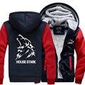 Hot New American Juego de Tronos Casa Stark Con Capucha Logo Invierno JiaRong Fleece Para Hombre Sudaderas Envío Libre