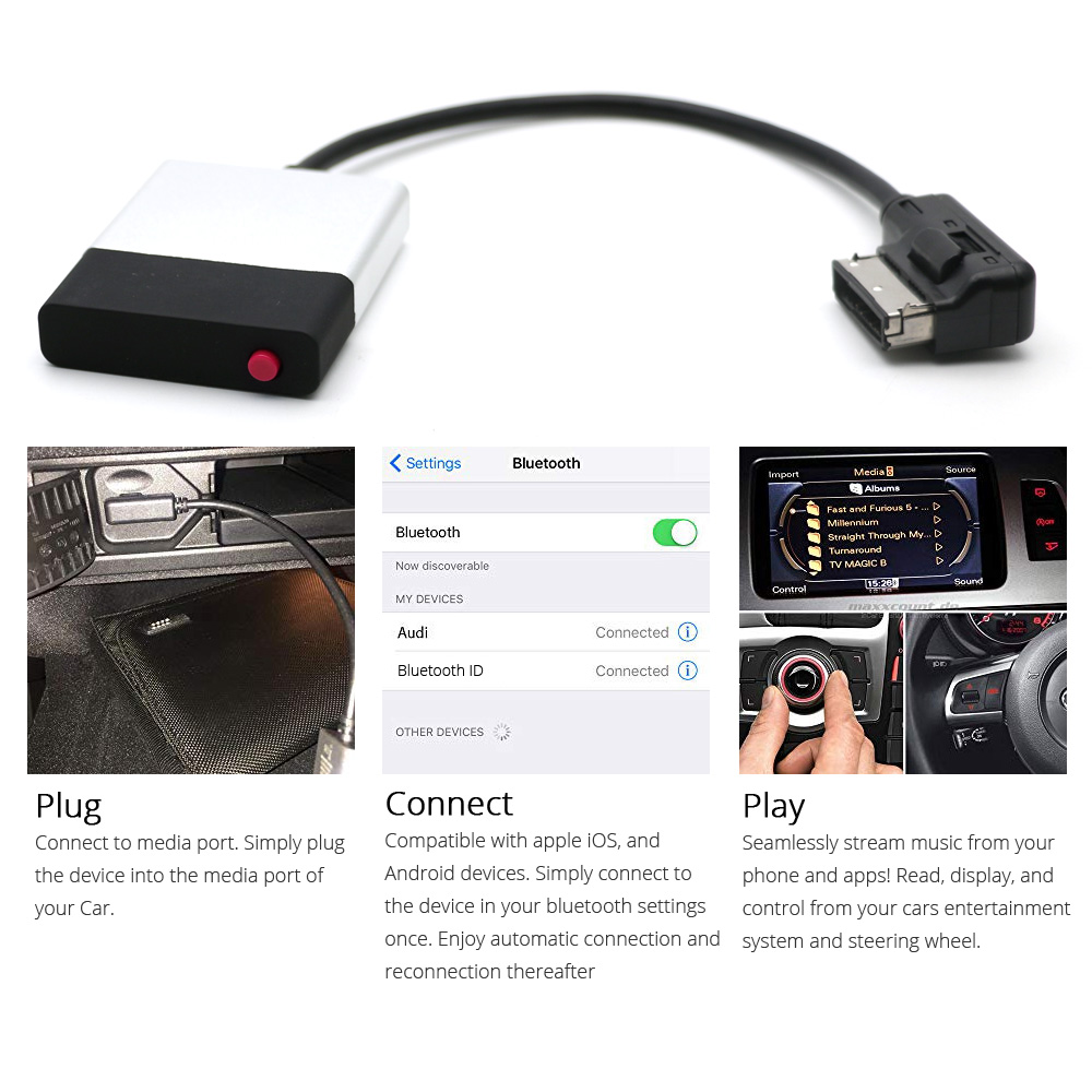 Adaptateur AUX IN BLUETOOTH IPHONE IPAD IPOD Mercedes