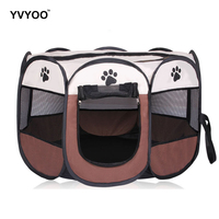 YVYOO Outdoor Portable Folding Pet tent Travel Dog House Cage Dog Cat Tent Playpen Puppy Kennel Octagonal Fence Pet products A08