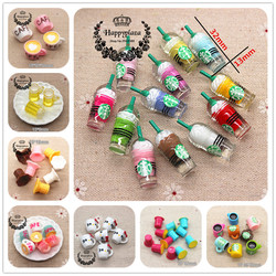 Resin Hot Selling Miniature 3D Kawaii Cup,Resin Cabochon DIY Jewelry Craft Decoration Accessories