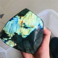 400g 700g Natural Crystal Moonstone Raw Gemstone Ornament Polished Quartz Labradorite Handicraft Decorating Stone Healing 1pcs